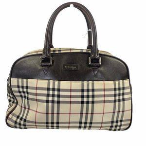 Burberry satchel bag light brown Nylon